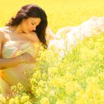 frau schwanger mit tuch nach hinten - DH Fotoart.ch für Spezielles
